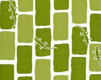 Japanese Tenugui Towel Cotton Fabric, Kawaii Gecko, Reptile Design, Hand Dyed Fabric, Modern Art Fabric, Home Decor, Wrapping, Scarf, a288
