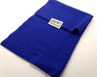 "5433 - True Royal Blue/Felted 100% Wool/sewing fabric/18""x19""/fiber arts/rug hooking/applique/craft supplies/soft felted wool/penny rugs"