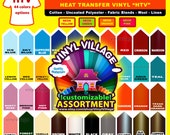 "1 roll 12"" Heat transfer vinyl thermal press T- Shirt film, crafts or sign cutter, HTV HPV NEONS  Vinyl Village"