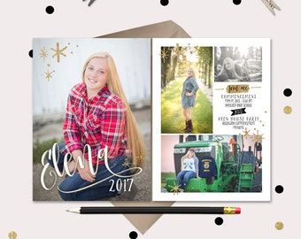 Gold Glitter Graduation Announcements · Fun & Modern Graduation Invitations · 4 photos · Printable Graduation Template