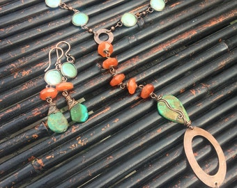 Fall Gardens Necklace and Earrings set, ThePurpleLilyDesigns