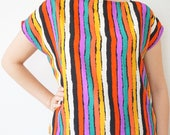 XL - Colorful Stripped Blouse