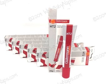 6 ORIGINAL Gutermann Creativ HT2 Textile Glue 30g - adhesive for metal purse frames, fabric, leather, DIY crafts, jewelry, wood, and yarn