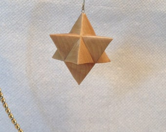 Hand Carved 8 Point Moravian Star Tree Ornament Wood Carving Christmas Ornament Decoration Christmas Decor Christmas Gift