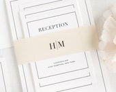 Glam Monogram Wedding Invitations - Deposit