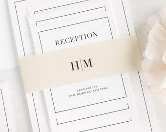 Glam Monogram Wedding Invitations - Deposit