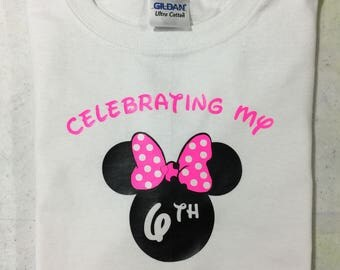 Disney Birthday Celebration Tshirts - Adult, Youth, Toddler & Infant Sizes Available