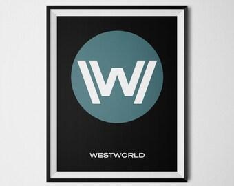 Westworld, Westworld Poster, Dolores Westworld, Tv shows, Westworld Print, Tv Series Art, Minimalist Designs, Minimalist Westworld Wall Art