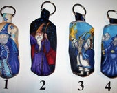 Wizard Decorative Cotton Zippered USB Stick Holder,Wizards Key Fob.Key Ring, Lipstick Chapstick Holder,Quilted,Earbud Case,SD Card Holder