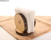 Rustic Napkin Holder Stand, Farmhouse Kitchen Table Decor Gift for Her