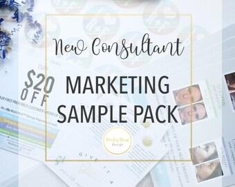 New Consultant & Marketing Sample Pack | skincare, team builder, R+F, mini facial, discount, printed,