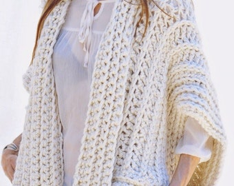 Instructions to Make: the Montreal Crochet Vest PDF PATTERN ONLY