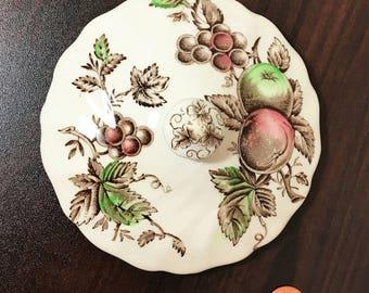 "Vintage Johnson Brothers China ""Harvest Time"" Sugar Bowl Lid"