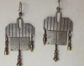 Signed Thomas Mann Kinetic Techno Romantic Modernist Earrings