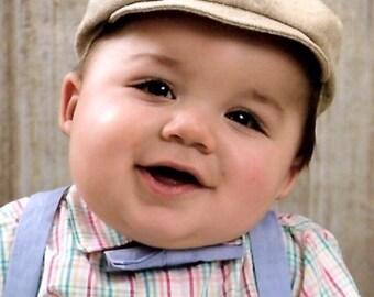 Linen Newsboy Cap // drivers cap golfers cap baby boy hat vintage inspired photo prop- Jack