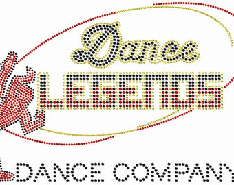 Custom Girls Rhinestone Youth Tank: Dance Legends