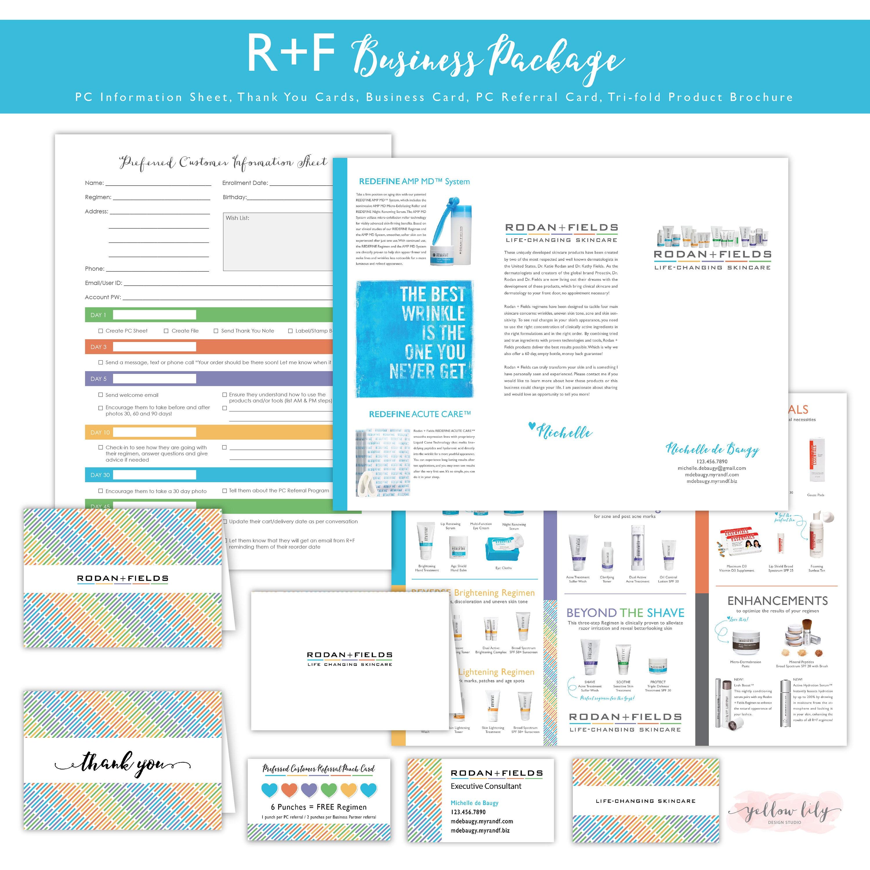 rodan and fields business kit preferred customer info sheet