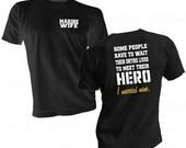 Marine Wife Shirt - Marine Hero Shirt - Marine Family Tee - Honor Marine Hero - Married My Hero Tee - Marine Shirt - Marines Heroes Shirt