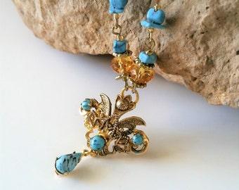 Turquoise Vintage Pendant Necklace