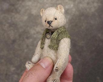 "Matilda  Miniature 3 3/4""  Mohair Artist Teddy Bear  from Aerlinn Bears"