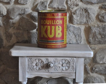 Huge Vintage French Tin - Bouillon Kub - 1930s Catering Size