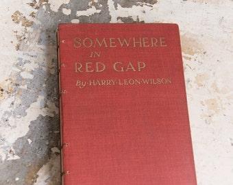1916 SOMEWHERE Vintage Book Journal Notebook