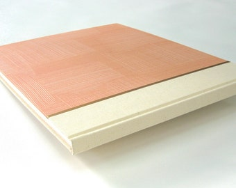 Guest Book - Cotton Sailcloth with Peach Paste paper