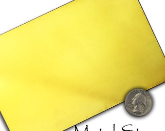 "18 Gauge Yellow BRASS SHEET 4"" x 6"" piece - Compare my Prices - Best on ETSY"