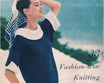Vintage Vogue Knitting Book No 48, 1956, Pattern