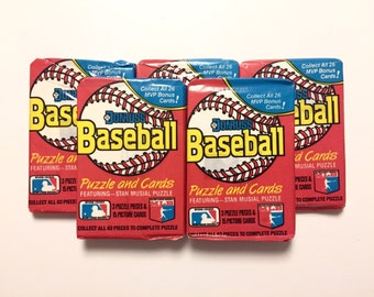 5 Wax Packs 1988 Donruss Baseball Cards, Sealed Vintage 80s Flashback Trading Lot, Possible RC