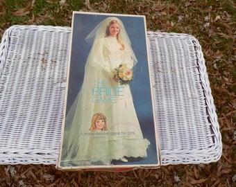 The Bride Game vintage 1971 board game incomplete but a great start for games for a bridal shower bachelorette party