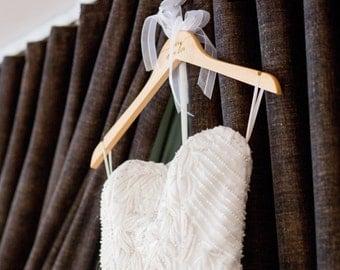 Wedding Dress Hangers for Wedding Bridal Party Hangers for Wedding Day Accessories for Bridal Party Wooden Dress Hanger (Item - HNP300)