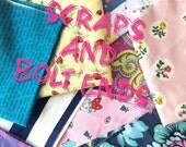 Fabric Scraps and end of bolts grab bags