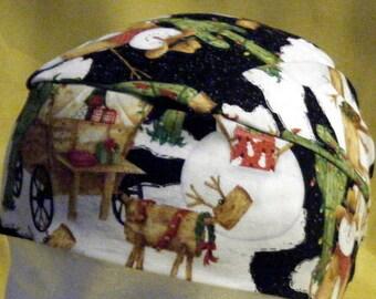 Handmade Skull Cap or Chemo Cap Holidays in the Desert, hats, bikers, head wrap, do rag, bandanna, cactus, Scrub Cap, Alopecia, Winter, Caps