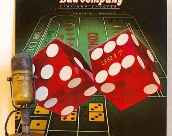 """ON SALE Bad Company Vinyl Record 1970s British Classic Rock and Roll """"Straight Shooter"""" (1975 Swan Song w/""""Feel Like Makin Love"""", """"Shooting"""