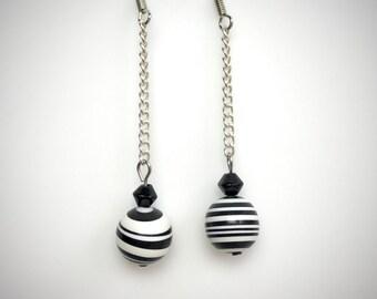Striped Stone Earrings