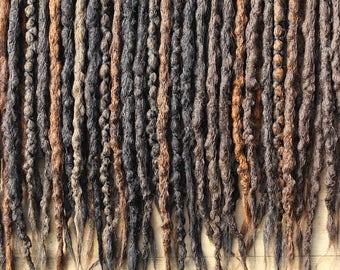 Brown DE x30 Crochet Synthetic Dreads - half set -