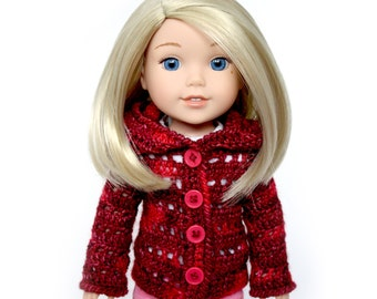 "Download Now - CROCHET PATTERN 13"" - 14.5"" Doll Snowflake Sweater Crochet Pattern"