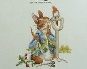 The Tale of Peter Rabbit Cross Stitch Book, Beatrix Potter Cross Stitch Book, Childrens' Room Decor