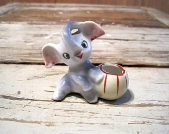 Vintage Ceramic Made in Japan Baby Elephant Figurine
