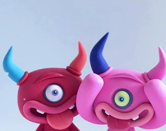 Random CYCLOPS LittleLazies | 1 Miniature Monster Polymer Clay Sculpture | Handmade | Thank You!