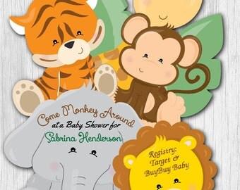 baby shower invitations safari invitations jungle baby shower invitation giraffe baby shower invites