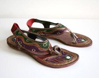 Indian Embellished Mirror Sandals 7