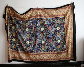 Indian Cotton Botanical Throw