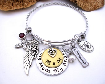 Mom Memorial Jewelry, Mom Memorial Bracelet, My Mom My Angel, Mom Bereavement, Loss of Mom, Mom Loss, Loss of Parent