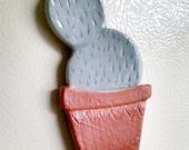 Paddle Cactus Ceramic Magnet