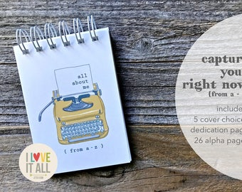 All About Me Journal Notebook . Right Now Currently Thoughts Dreams Goals. Mindfulness Self Love . Document Story Write . Graduation Gift