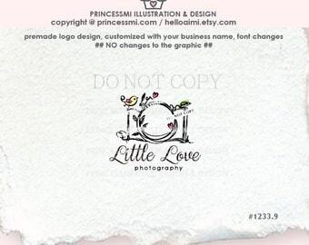 1233-9  whimsical camera logo, doodle, camera watermark, photography logo, photographer logo, business watermark