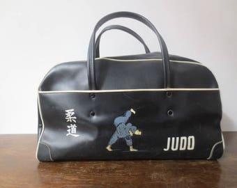 Vintage '50s/'60s RARE Vinyl JUDO Gi Sac Gym Bag, Judo International, Mutual Supply Company, Made in Japan