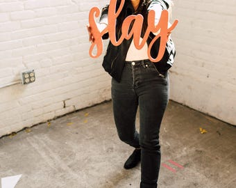 Slay Signage 1 CT. , Laser Cut, Birch Plywood, Cheeky, Sassy, Badass Photobooth Signage, Weddings, Birthday Party